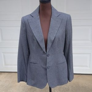 Style & Co. Ladies Gray Two Button Blazer/Jacket